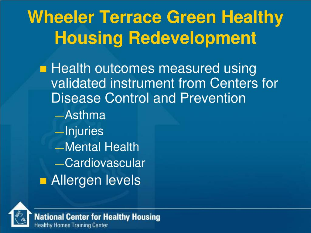 Wheeler Terrace Green Healthy Housing Redevelopment