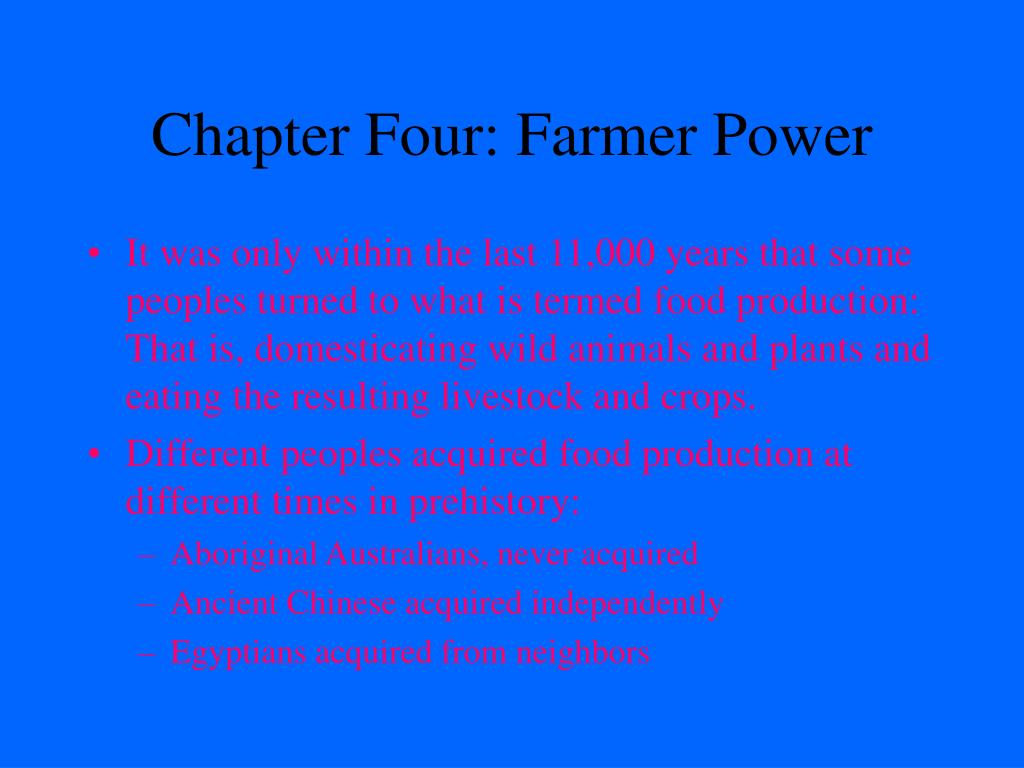 Chapter Four: Farmer Power