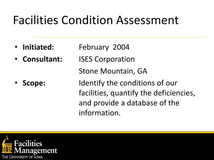 Facilities condition assessment l.jpg