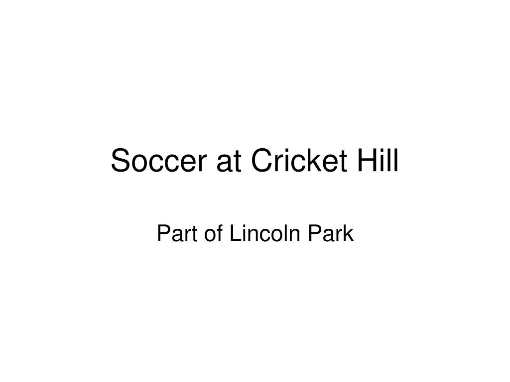 Soccer at Cricket Hill