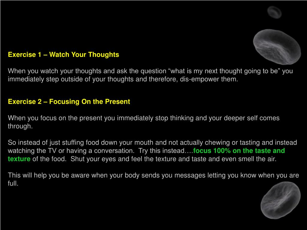 Exercise 1 – Watch Your Thoughts