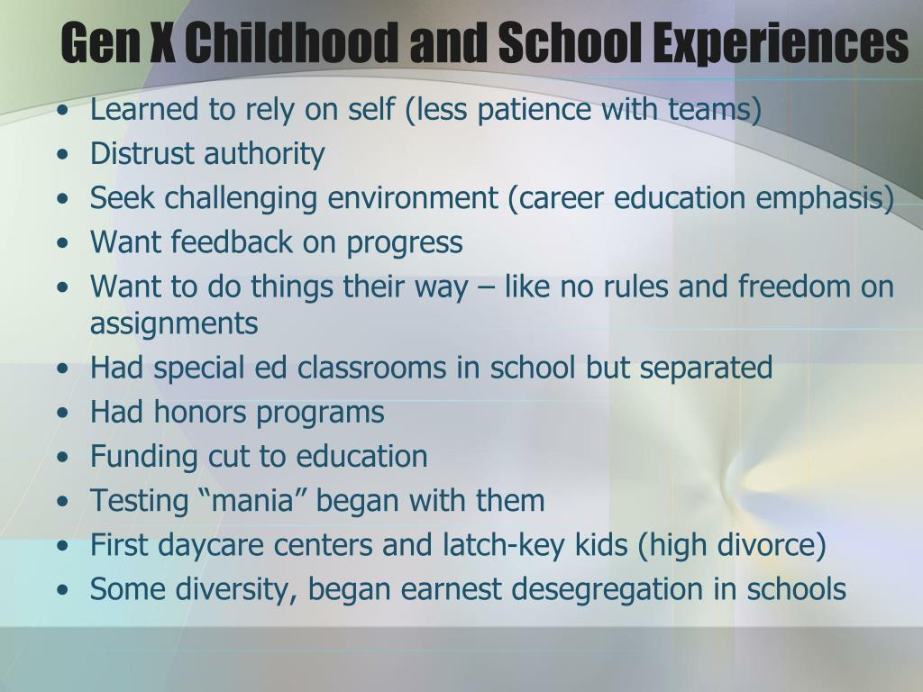 Gen X Childhood and School Experiences