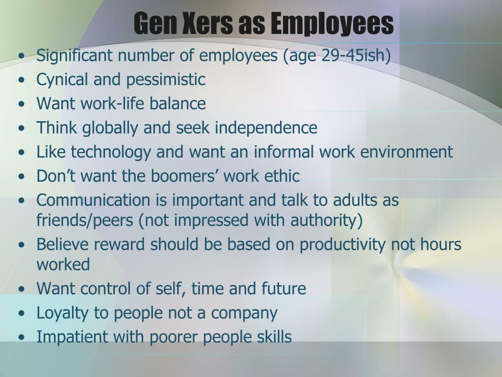 Gen Xers as Employees