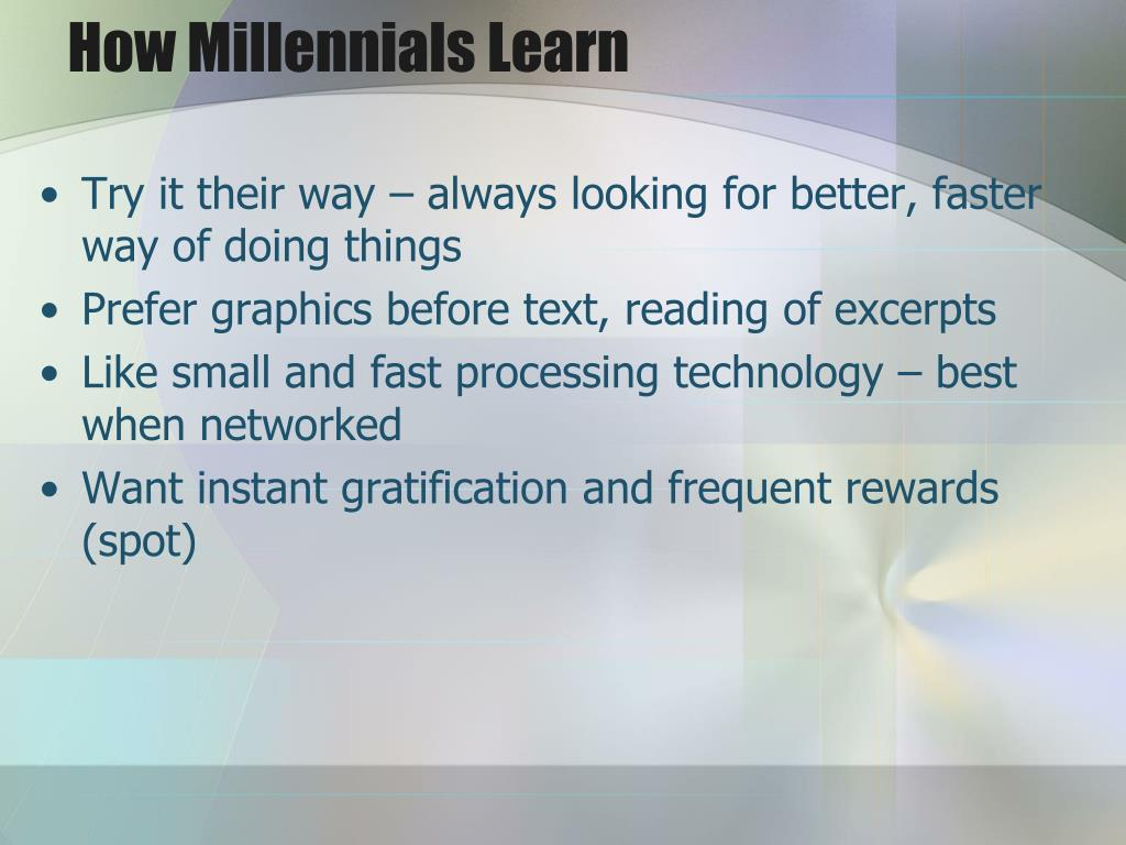 How Millennials Learn