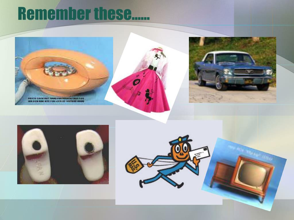 Remember these……