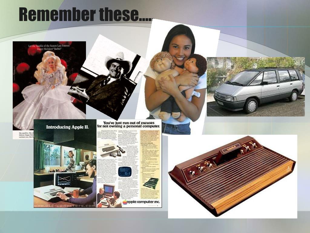 Remember these…..