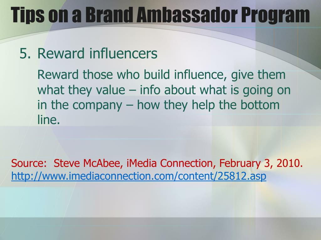 Tips on a Brand Ambassador Program