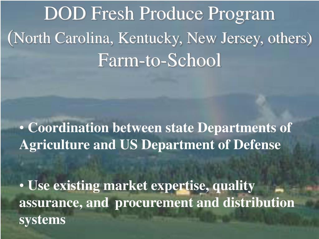 DOD Fresh Produce Program