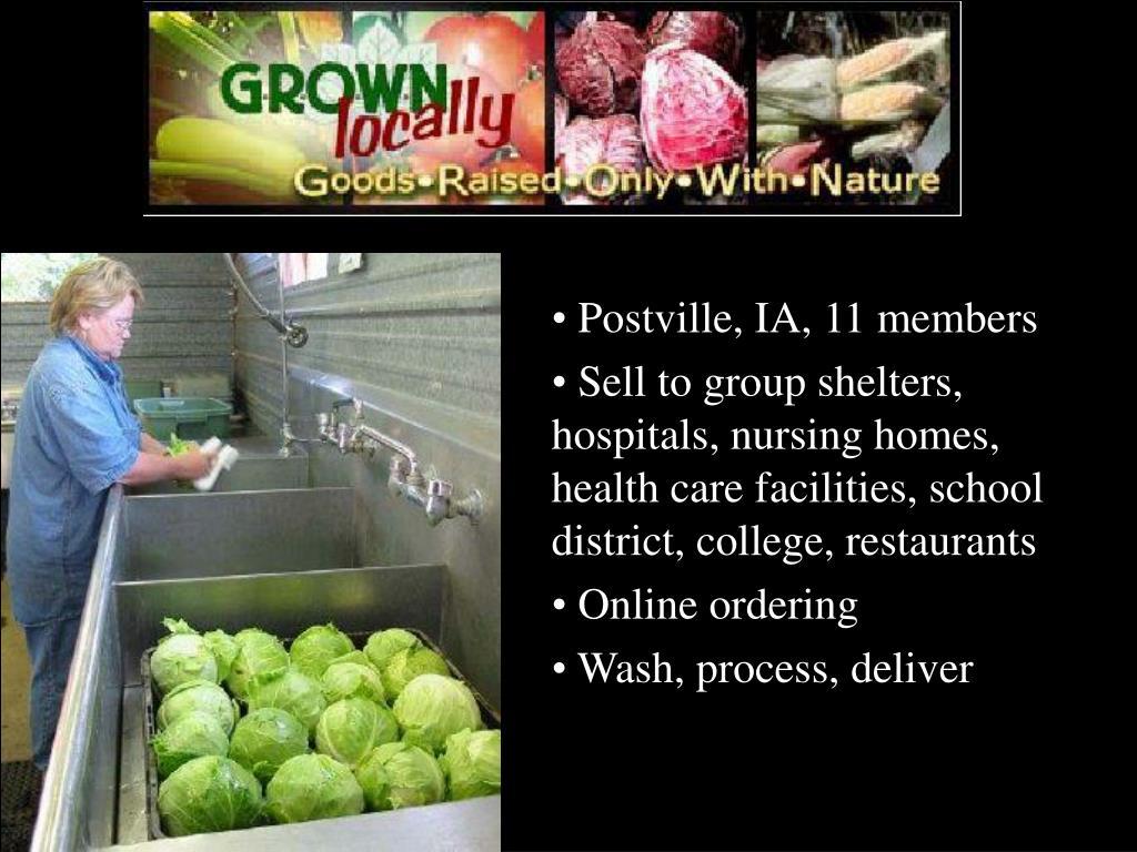 Postville, IA, 11 members