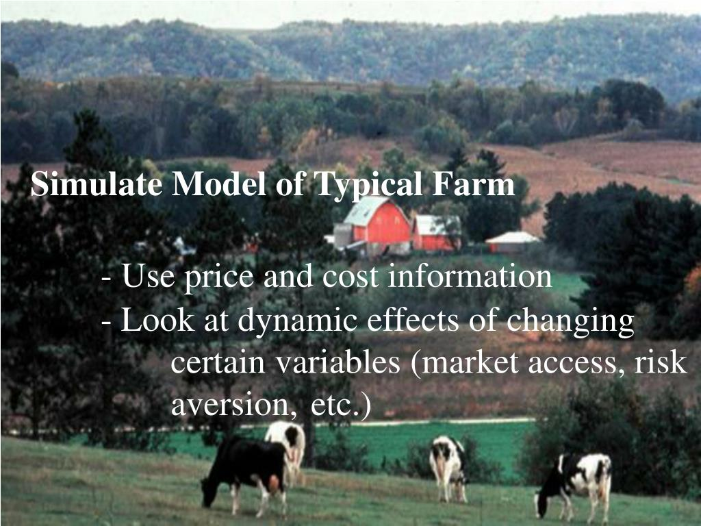 Simulate Model of Typical Farm