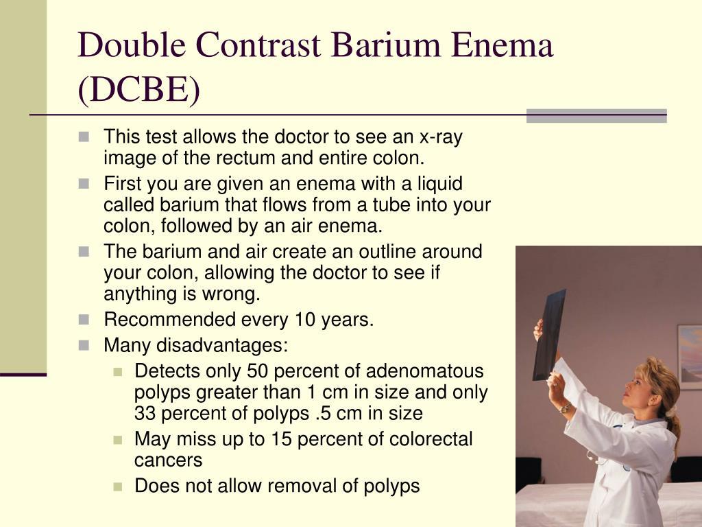 Double Contrast Barium Enema (DCBE)