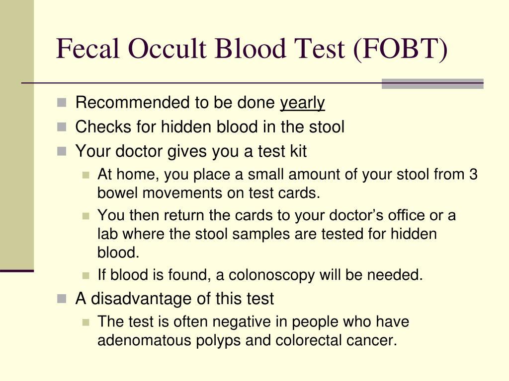 Fecal Occult Blood Test (FOBT)
