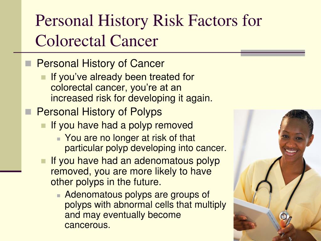 Personal History Risk Factors for