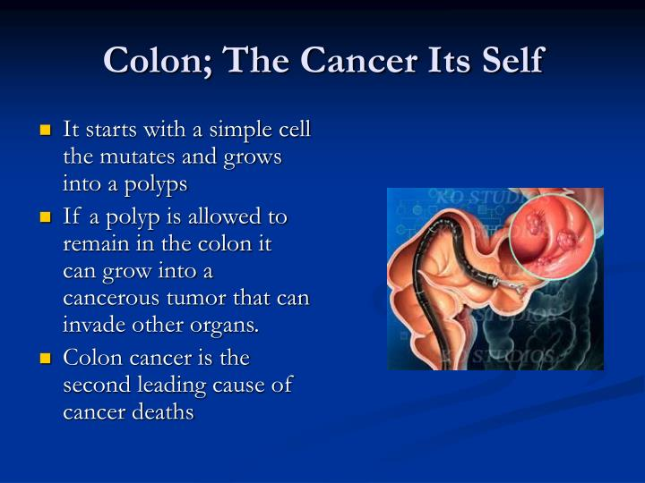Colon the cancer its self