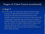 stages of colon cancer continued7