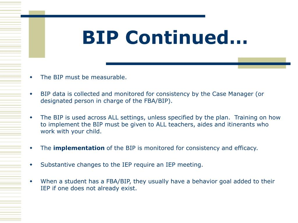 BIP Continued…