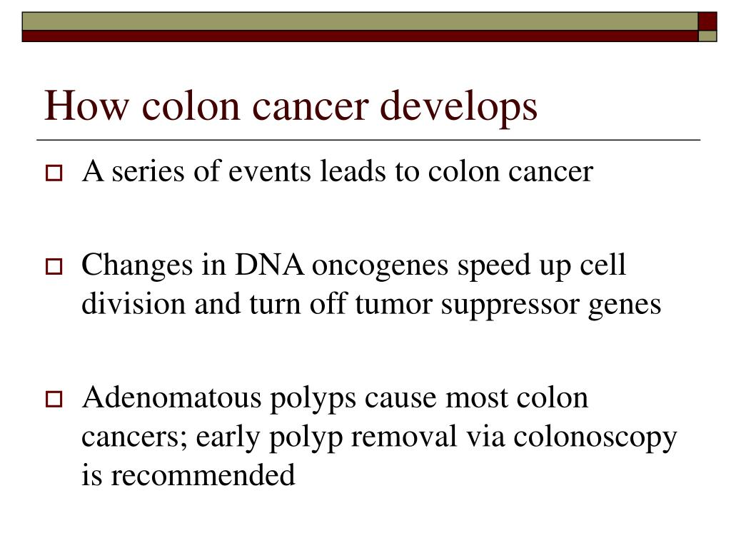 How colon cancer develops