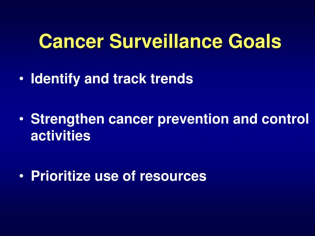 Cancer Surveillance Goals