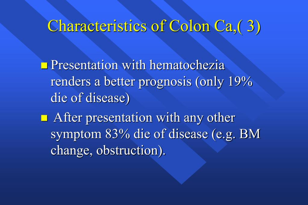 Characteristics of Colon Ca,( 3)