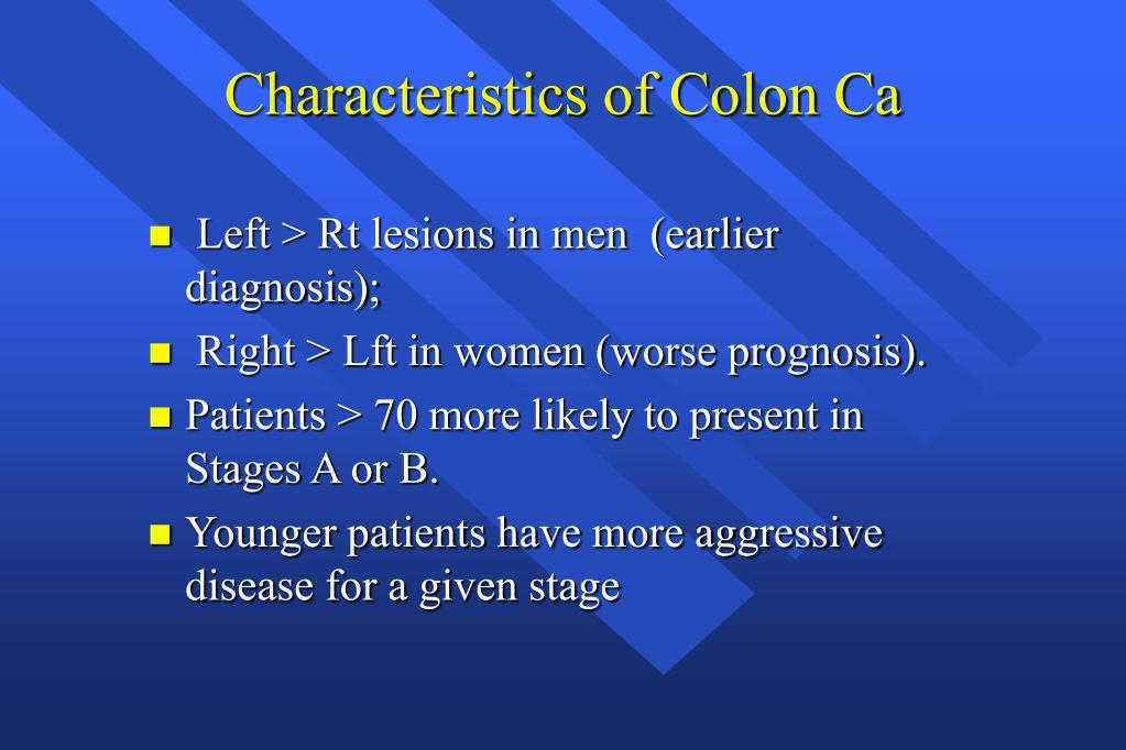 Characteristics of Colon Ca