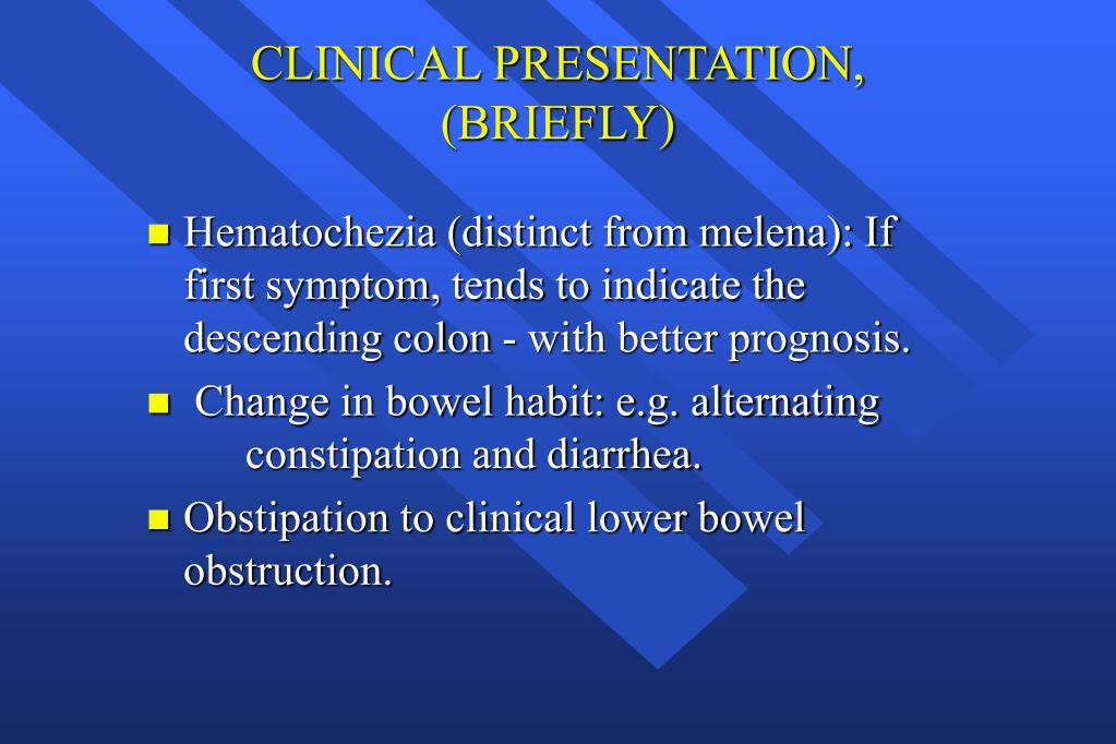 CLINICAL PRESENTATION, (BRIEFLY)