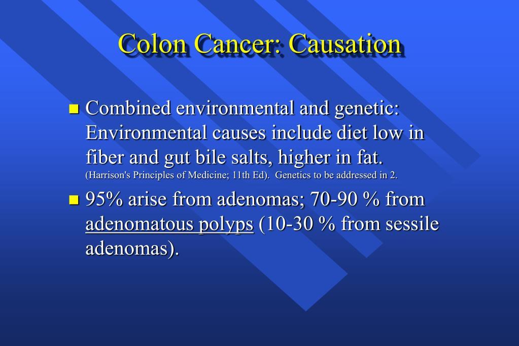 Colon Cancer: Causation