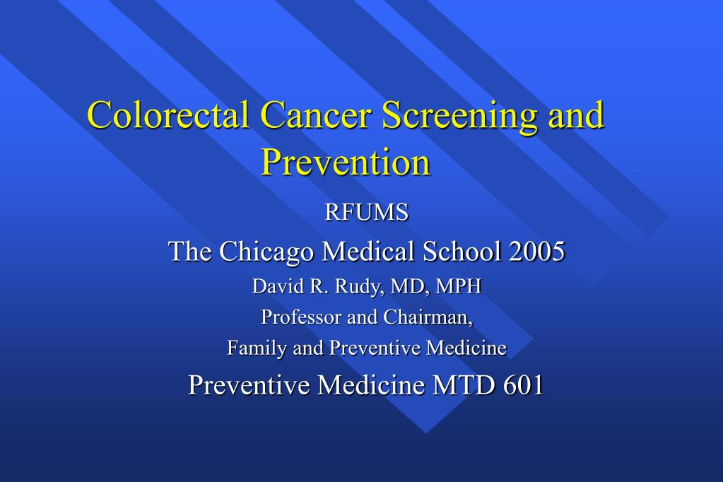 Colorectal Cancer Screening and Prevention