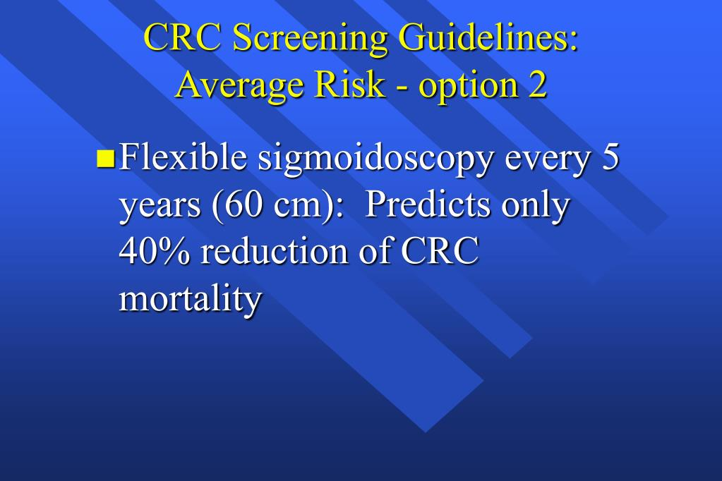 CRC Screening Guidelines: