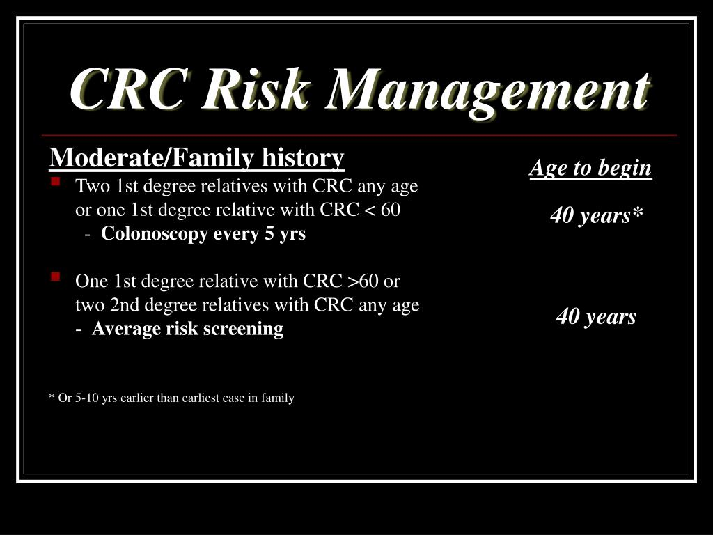 CRC Risk Management