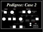 pedigree case 2