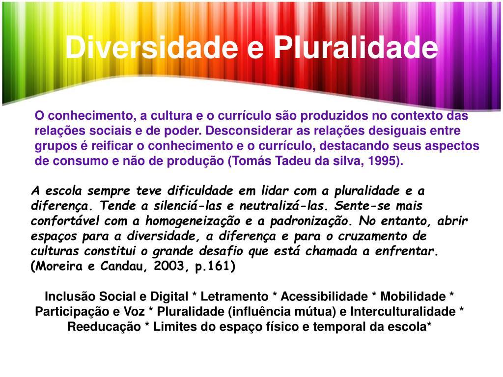 Diversidade e Pluralidade