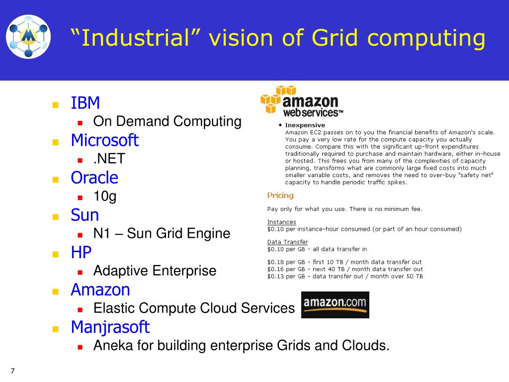 """Industrial"" vision of Grid computing"