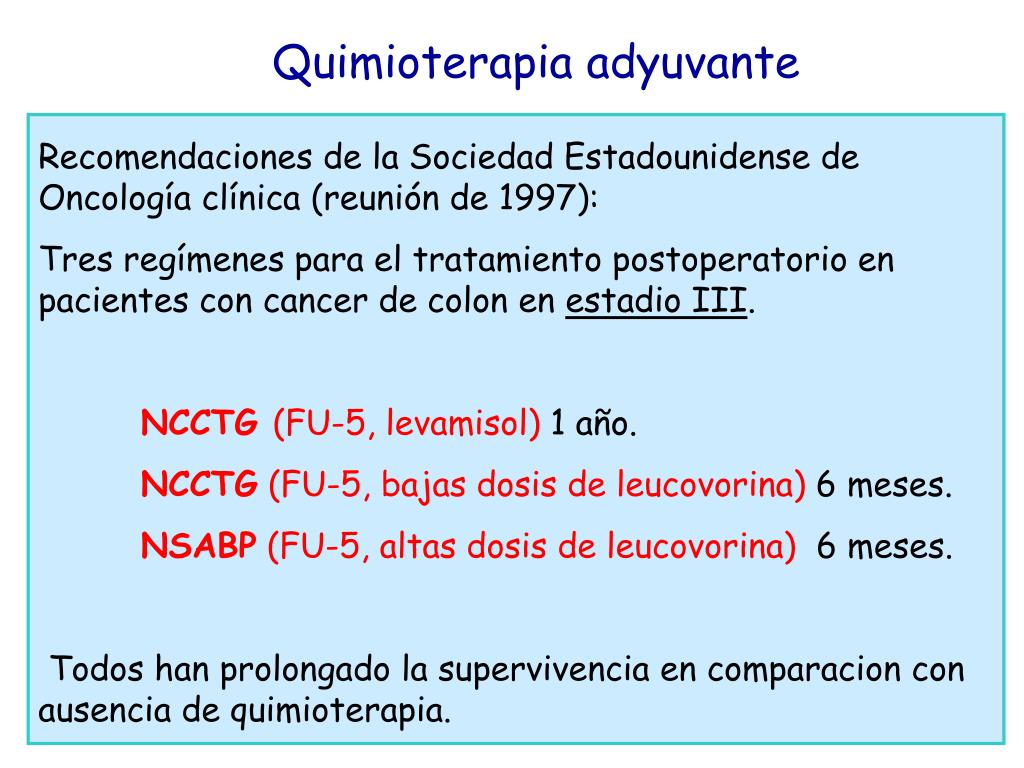 Quimioterapia adyuvante