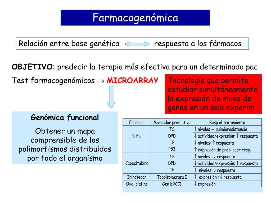 Relación entre base genética respuesta a los fármacos