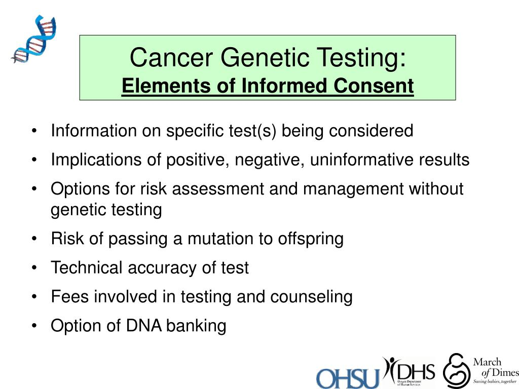 Cancer Genetic Testing: