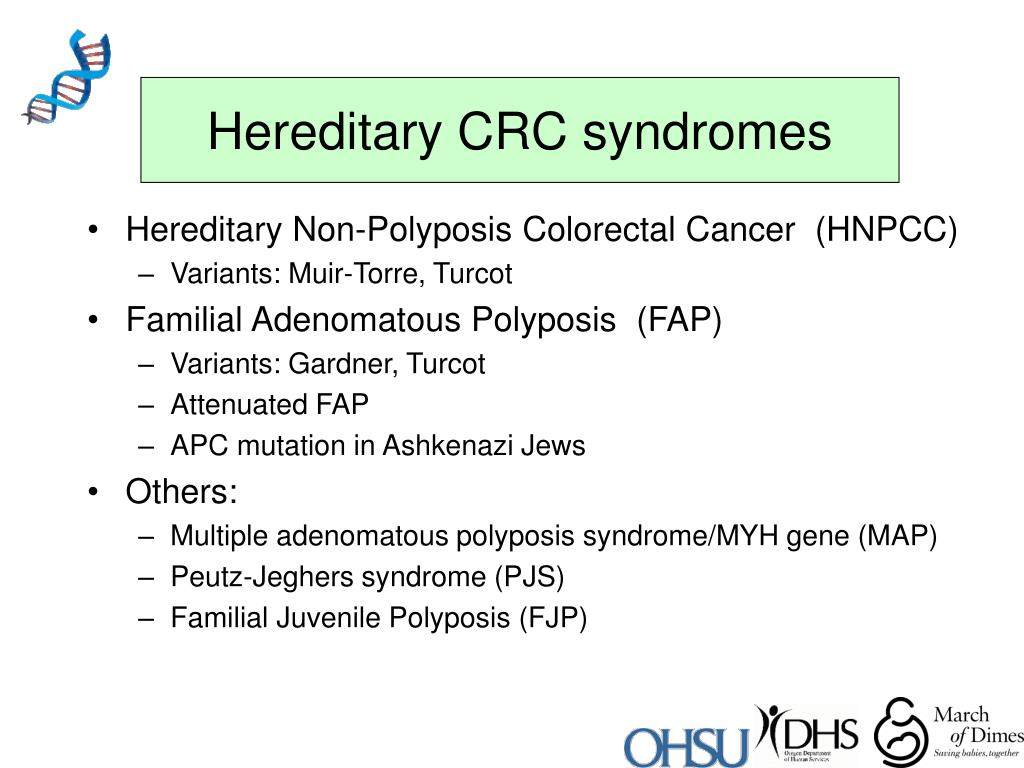 Hereditary CRC syndromes