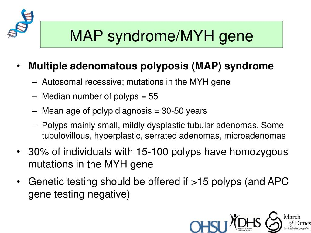 MAP syndrome/MYH gene