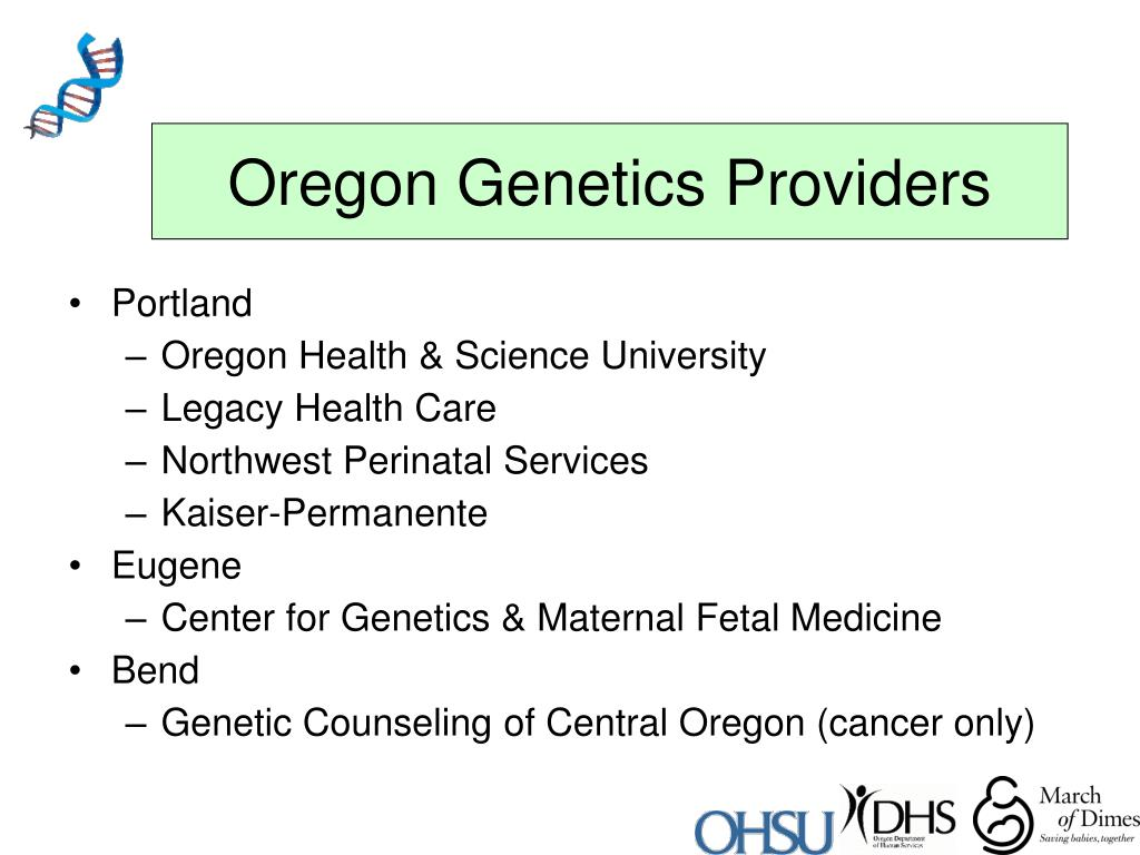 Oregon Genetics Providers