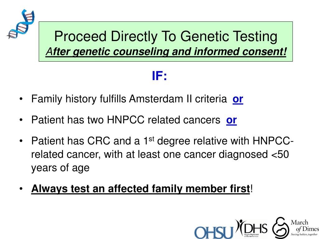 Proceed Directly To Genetic Testing