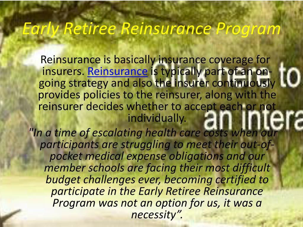 Early Retiree Reinsurance Program