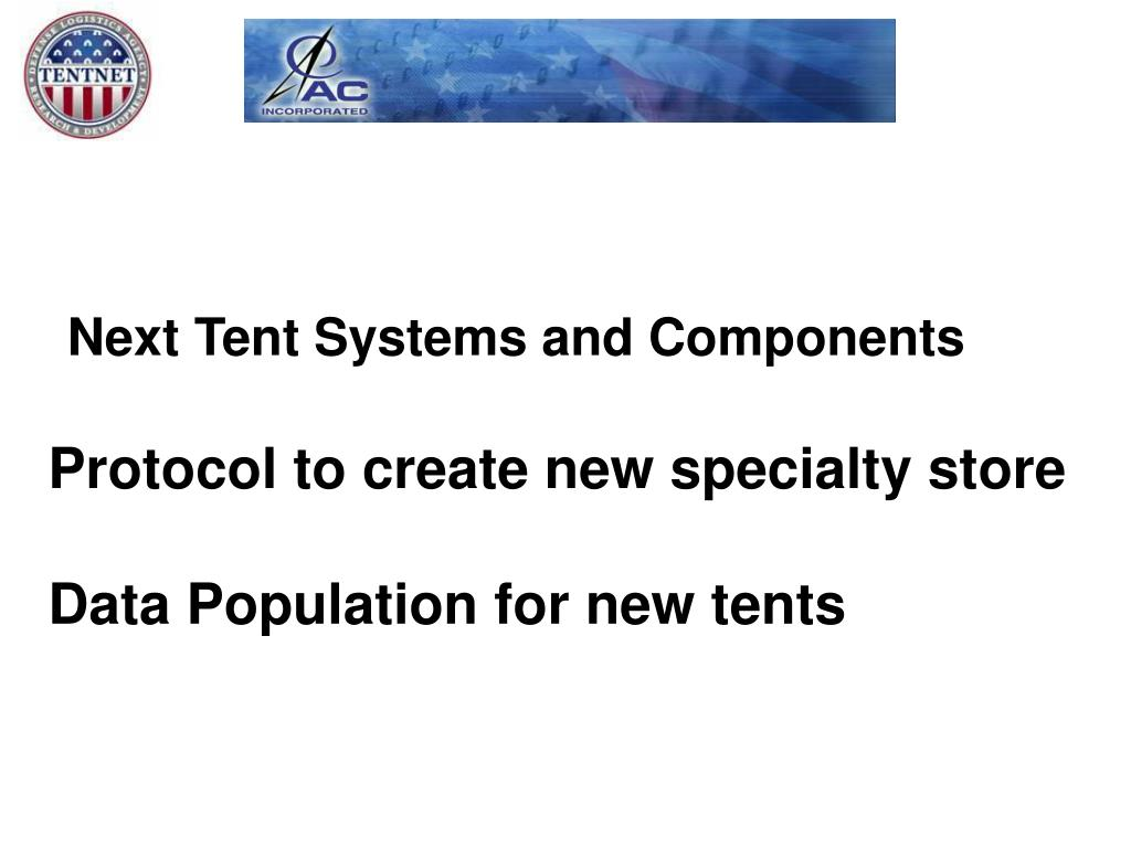 Next Tent Systems and Components
