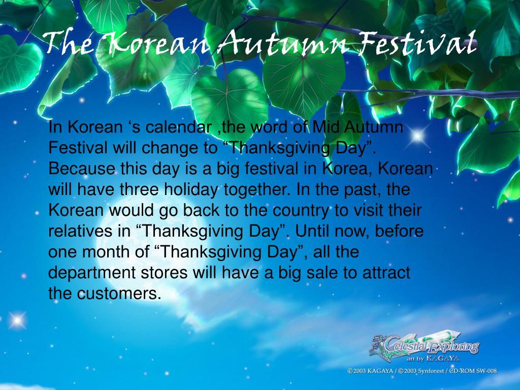 The Korean Autumn Festival