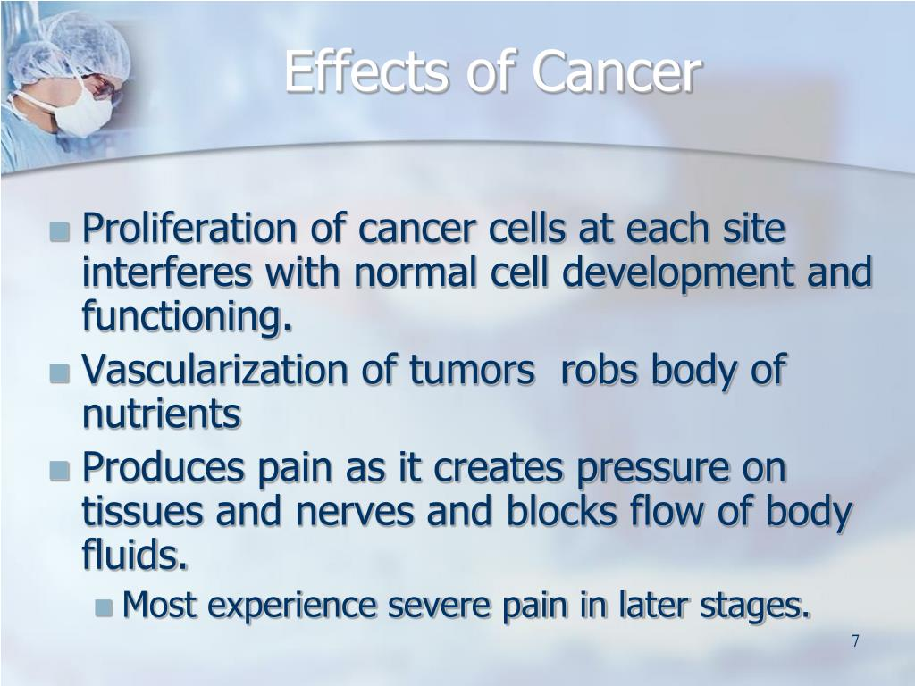 Effects of Cancer