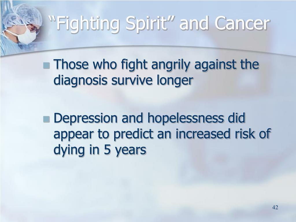 """Fighting Spirit"" and Cancer"