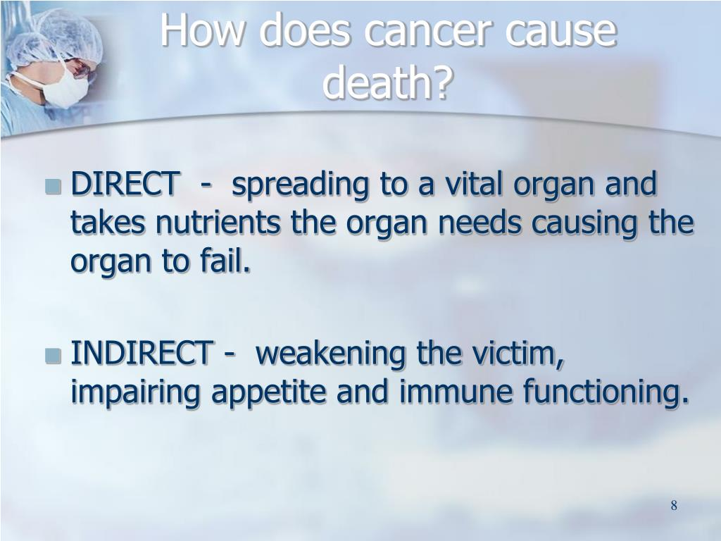 How does cancer cause death?