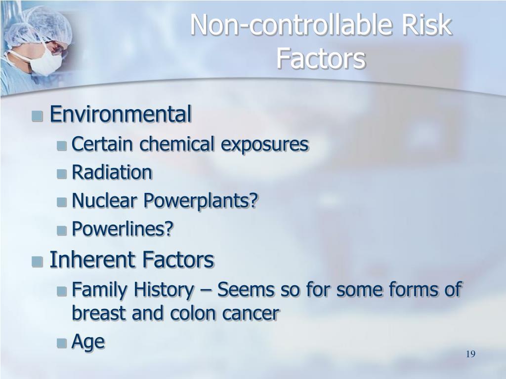 Non-controllable Risk Factors