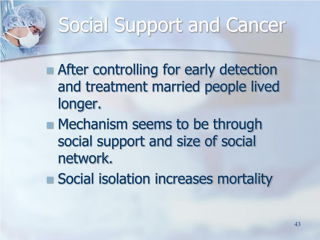 Social Support and Cancer