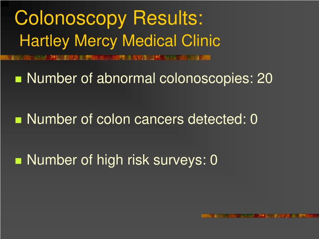 Colonoscopy Results: