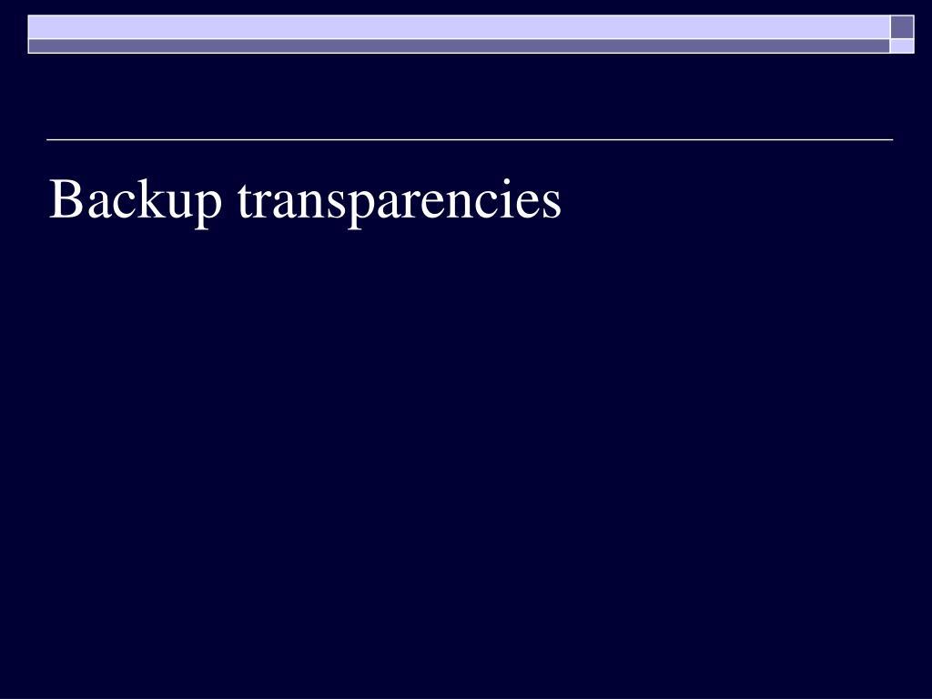 Backup transparencies