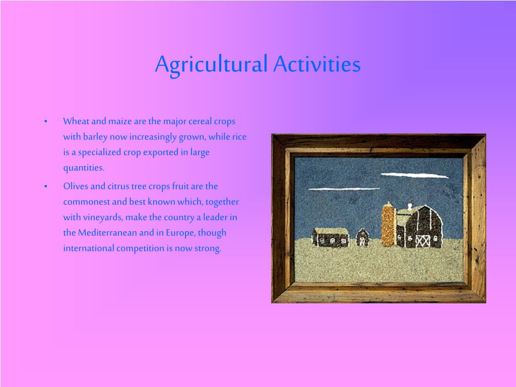 Agricultural Activities